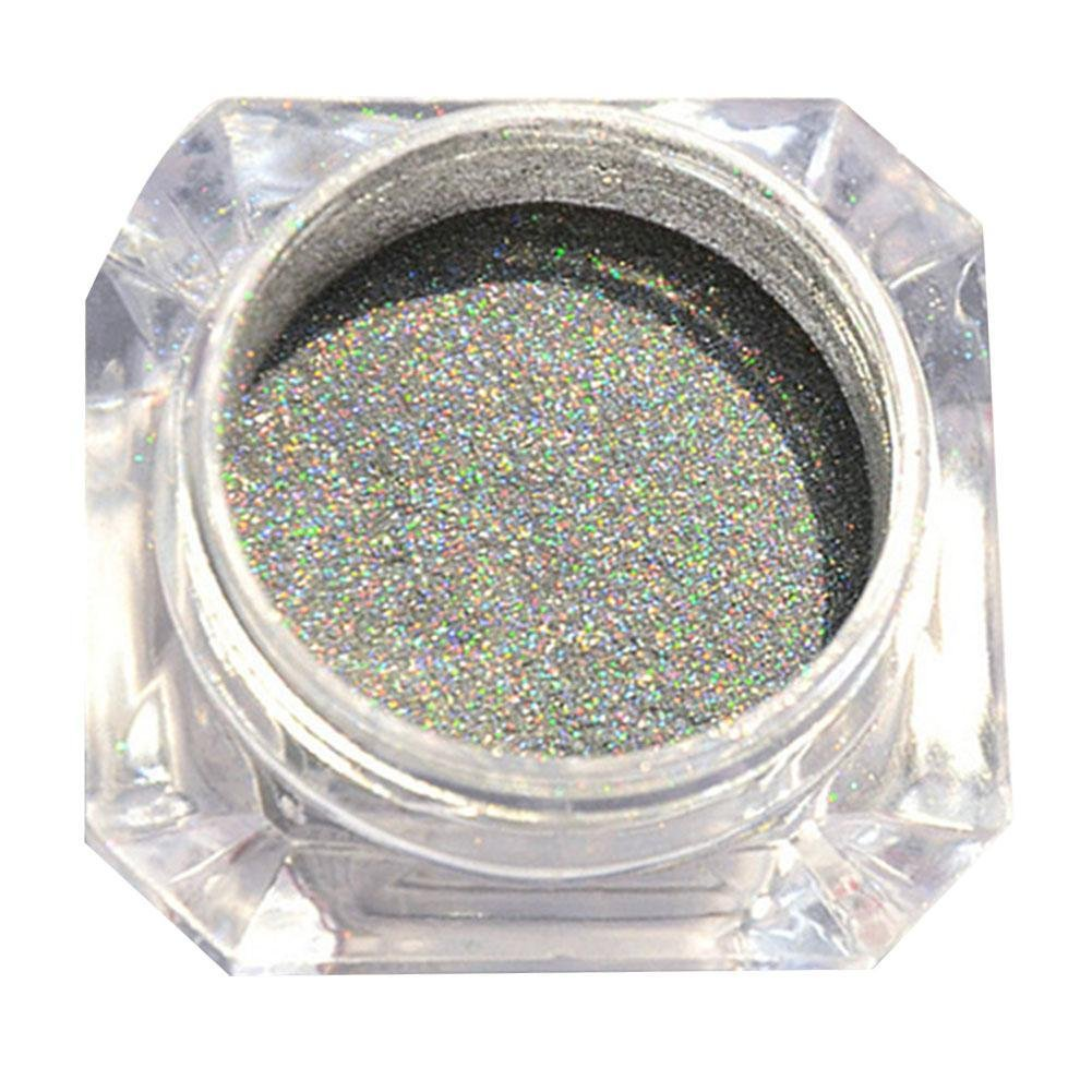 Gracefulvara 2 x 1g Holographic Chrome Glitter Powder Dust 3D Nail Art Decoration