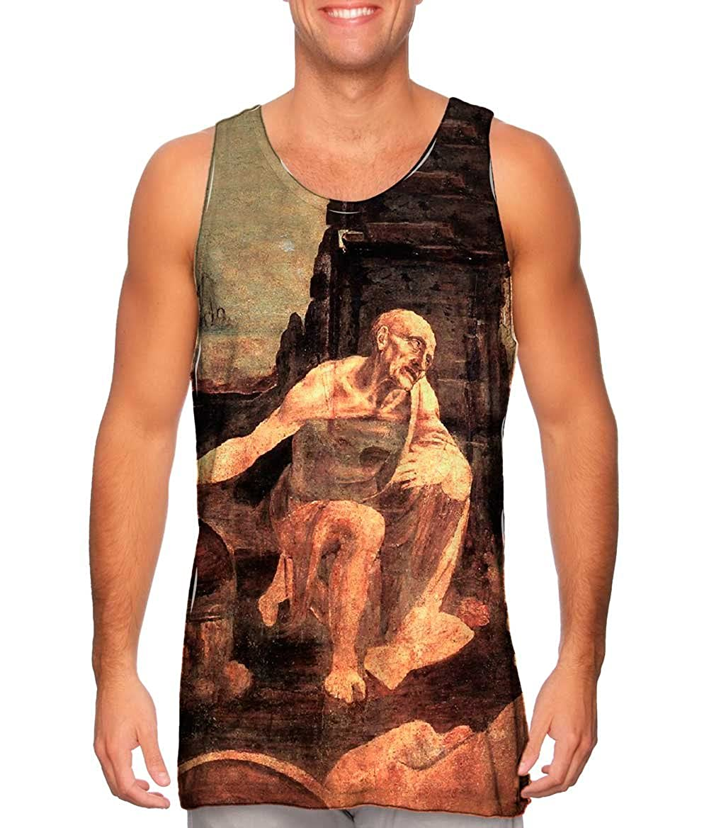 St Jerome .-TShirt Mens Tank Top 2129 Leonardo Da Vinci Yizzam