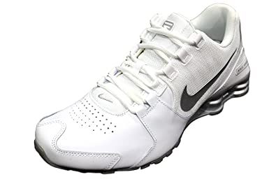 Tenis Nike Shox Nz Branco Tout En Cuir Pour Hommes Blancs Courosell visite jeu Finishline awAAXD
