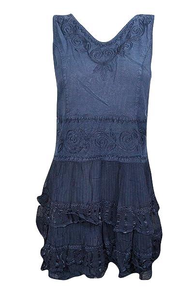 Boho Chic Designs - Vestido - Noche - para mujer Azul azul 40