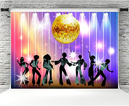 Amazon Com 7x5ft Vintage Disco Party Photo Backdrop 70s 80s 90s Disco Night Dancing Studio Props Banner Coloful Shiny Neon Birthday Party Background Decorations Booth Props Camera Photo