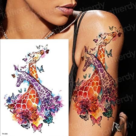 tzxdbh 3pcs Impermeable Arte del Tatuaje del Cuerpo del palillo de ...