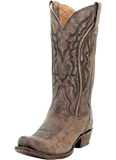 376be9327bd3 CORRAL A3449 Men s Distressed Brown Narrow Square Toe Boots