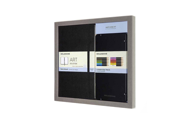 Moleskine Sketchbook & Watercolor Pencil Set, Hard Cover (5 X 8.25)