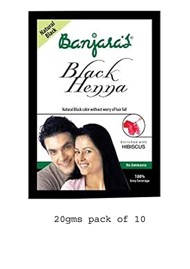 a51d595d3eb1e Buy Banjaras Black Henna with Hibiscus Hair Colour, 10g (Pack of 2 ...