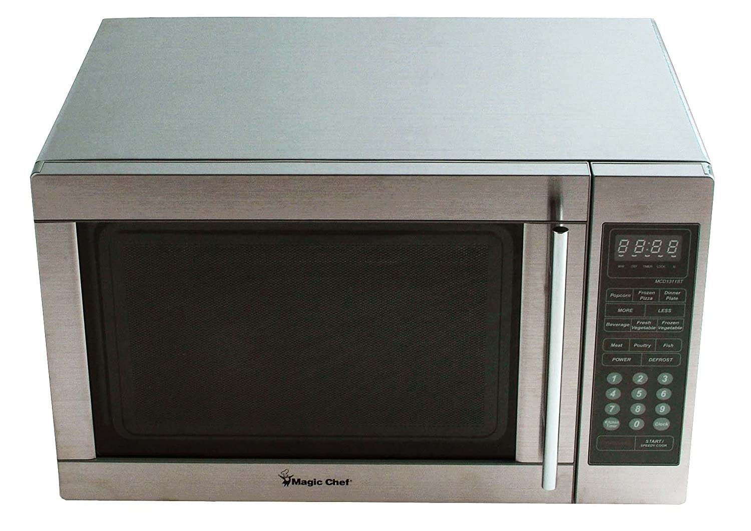 amazoncom magic chef mcd1310st 13 cuft microwave stainless steel kitchen u0026 dining