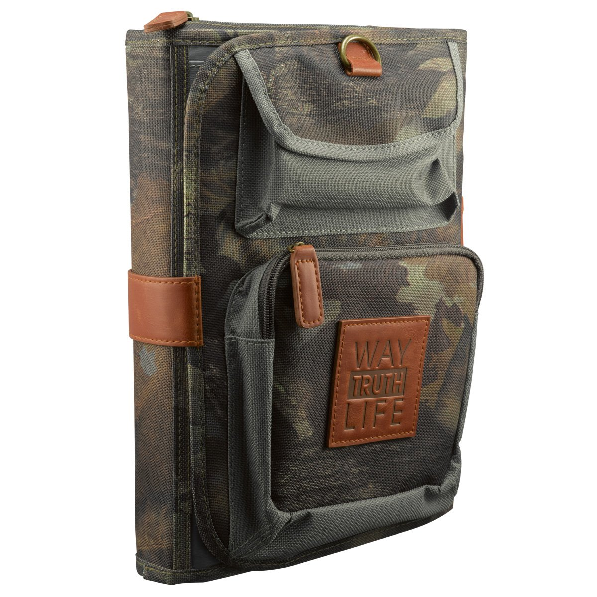 Tri-Fold Realtree Camo Bible / Book Organizer w/''Way-Truth-Life'' Badge (Large) by Christian Art Gifts