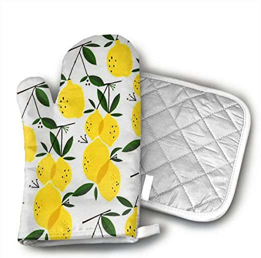 Kitchen Mini Oven Mitts Microwave Mitts Pot Holder Extreme Heat Resistant Cotton