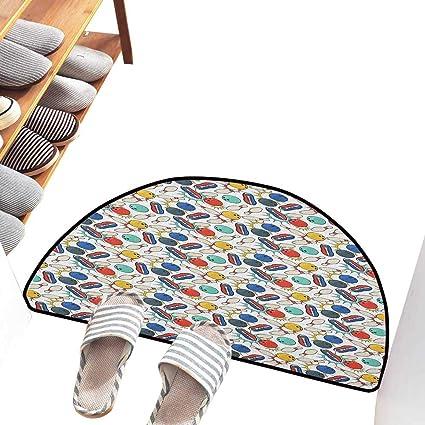 Amazon.com  Axbkl Interior Door mat Bowling Color Doodle