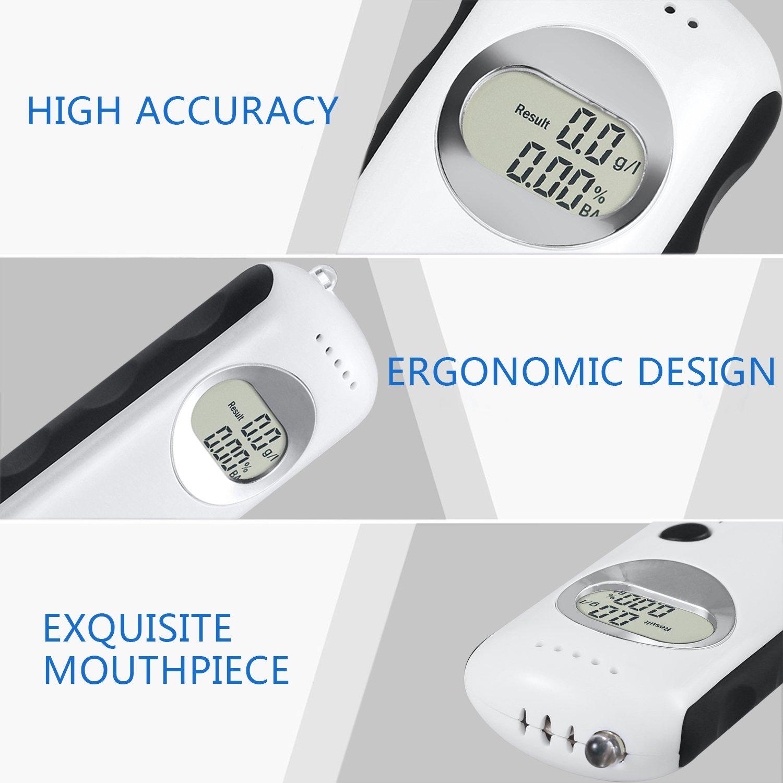 Professional Breathalyzer Anntoo Portable Digital Breath Alcohol Tester for Personal Use