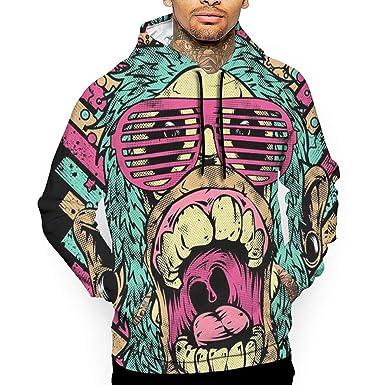 Comfy Men Pockets Fashion Casual Digital Printed Sweatshirt Hoodies Sports Apparel
