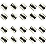 ESUMIC® 5 broches des connecteurs mâles pour les lumières Led Strip RGBW 5050 noirs (20pcs)