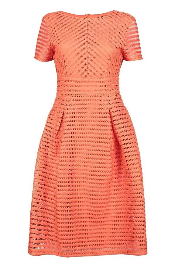 Orange Womens Boutique Zaira Frill Skirted Prom Midi Dress - 6: Amazon.co.uk: Clothing