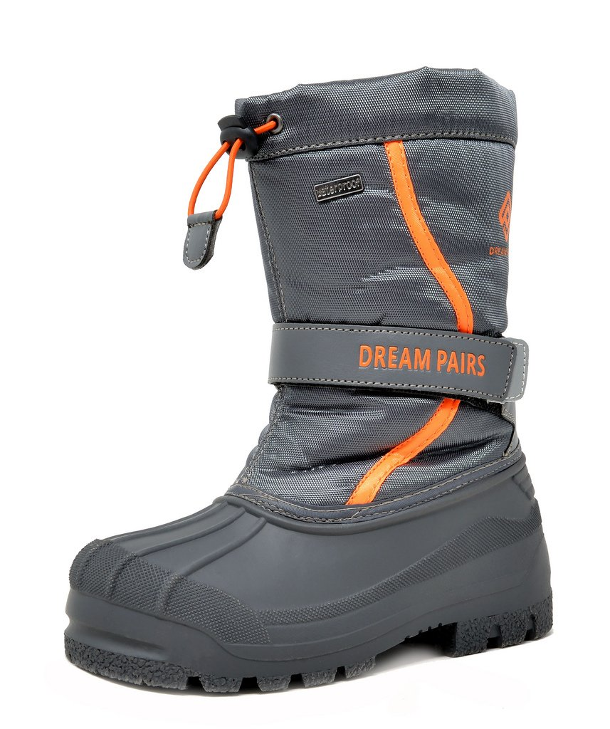DREAM PAIRS Toddler Kamick Grey Mid Calf Waterproof Winter Snow Boots Size 10 M US Toddler