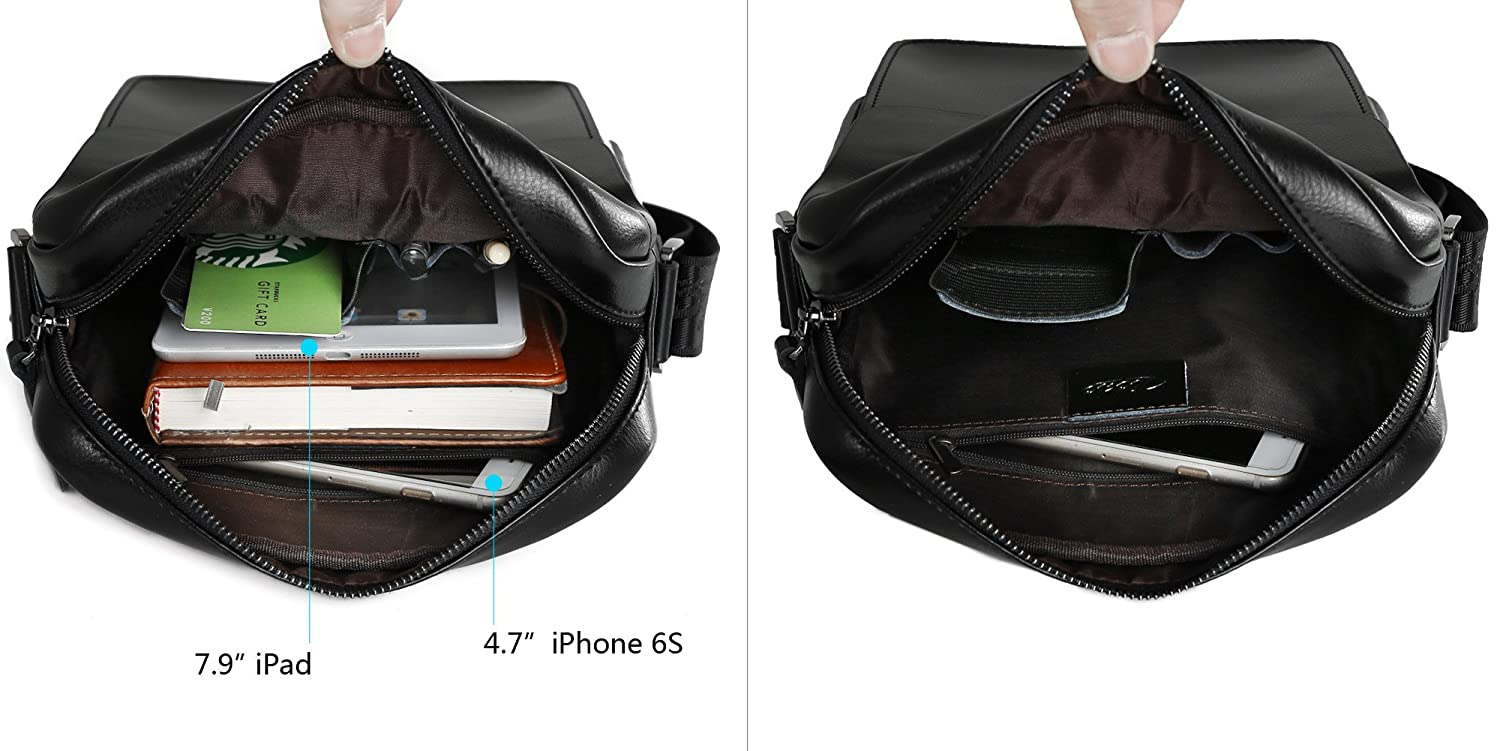 Mens leather gloves tj hughes - Zicac Mens Cow Split Leather Shoulder Bag Handbags Briefcase For The Office Messenger To Hold For Ipad Air Ipad Mini Black Amazon Co Uk Luggage