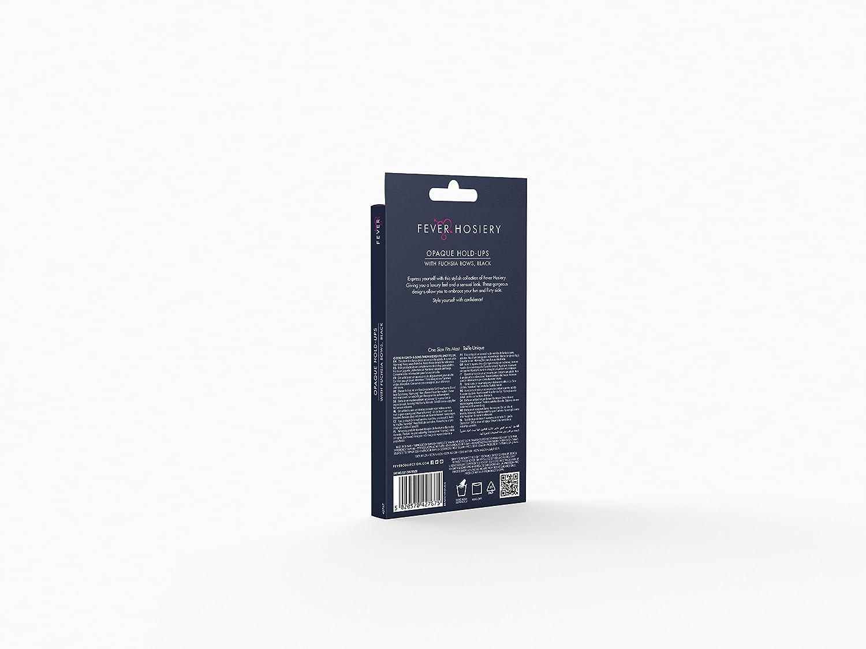 Nero Nere SMIFFYS- Auto-reggenti opachi EU Dimensione 34-42 42767 XS a M con Fiocchi Fucsia Donna