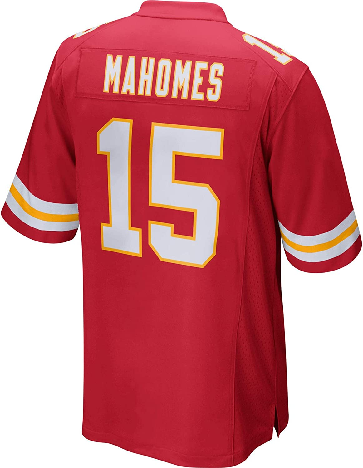 WOPOO Outdoor Jersey American Football Chiefs Kansas City Patrick Player Game Jersey Quick-Drying NO.15 Mahomes Outdoor Casual T-shirts Red