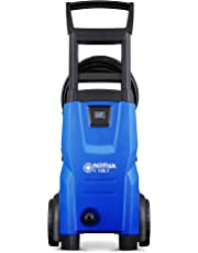 Nilfisk C 120 bar Pressure Washer (1400W motor, 6m high pressure hose), Blue