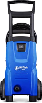 Nilfisk C 120 bar Pressure Washer Blue 1400W motor, 6m high pressure hose