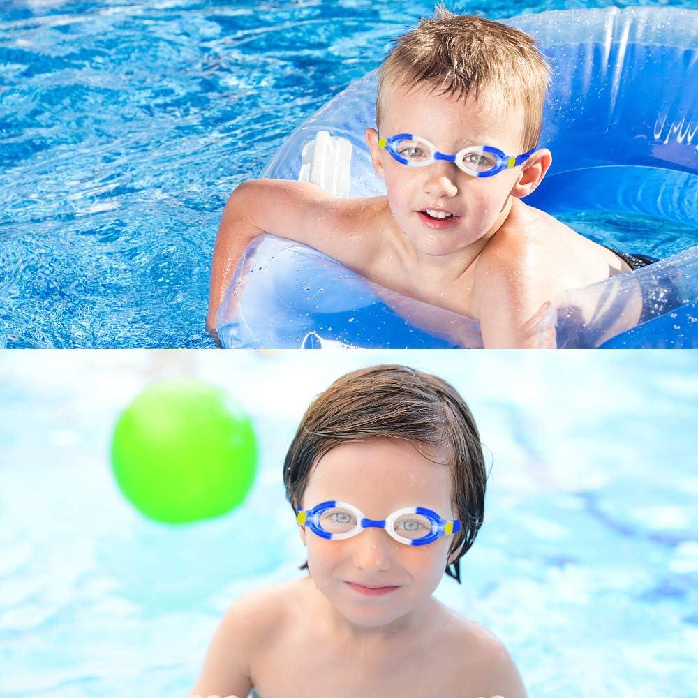 Oziral Gafas de nataci/ón para ni/ños Profesional Vidrio de Nataci/ón Gafas de Buceo con Caja de Almacenamiento Clip Nasal y Tapones para los o/ídos Antiniebla y Protecci/ón UV