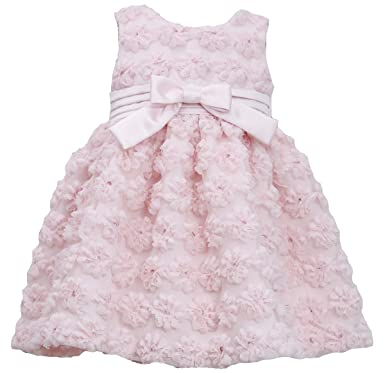 b9cc33cc5 Bonnie Jean Girls 2T-4T Light Pink Mesh Flower Bonaz Special Occasion Dress,  3T