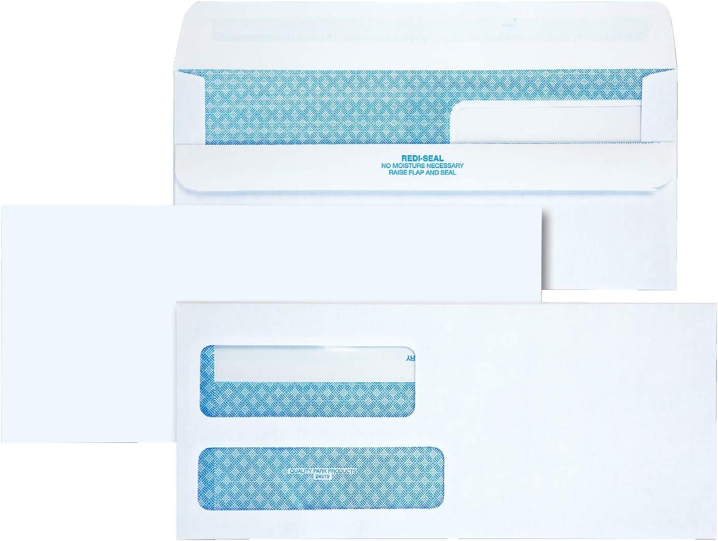 Gummed Quality Park Booklet Envelopes 100 per Box, White 37113 6 x 9
