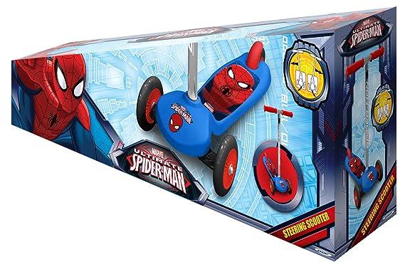 STAMP SAS Spiderman Steering Scooter, Niños, Blue, 2+