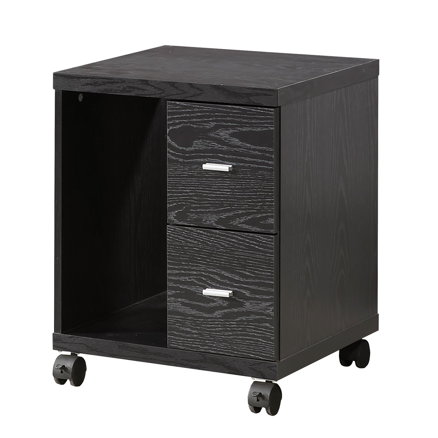 Peel 2-Drawer CPU Stand Black Oak by Coaster Home Furnishings