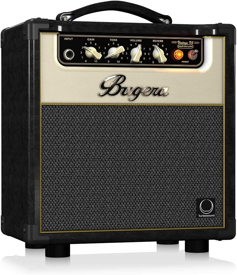 Amazon Com Bugera V5 5 Watt Class Amplifier Combo With Infinium Tube Life Multiplier Black V5infinium Musical Instruments