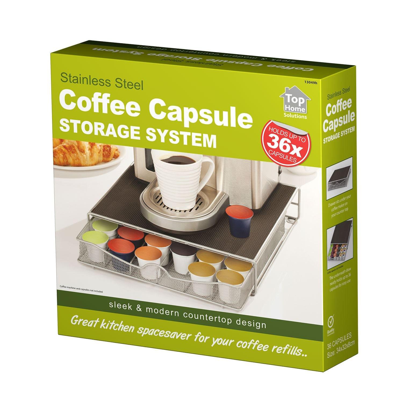 Top Home Solutions Coffee Machine stand /& portacapsule cassetto per Nespresso /& capsule Dolce Gusto