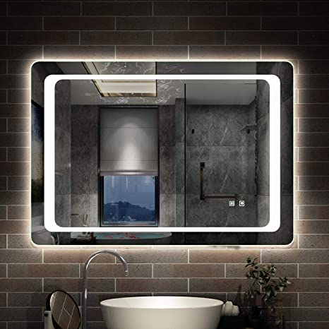 AICA SANITARIOS Espejo de baño 80x60 cm Espejo led - Interruptor ...