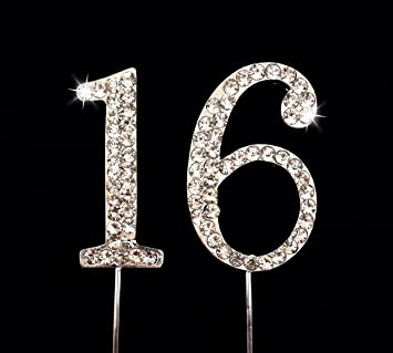 Image Unavailable Not Available For Color Sweet 16 Birthday Number Cake Topper