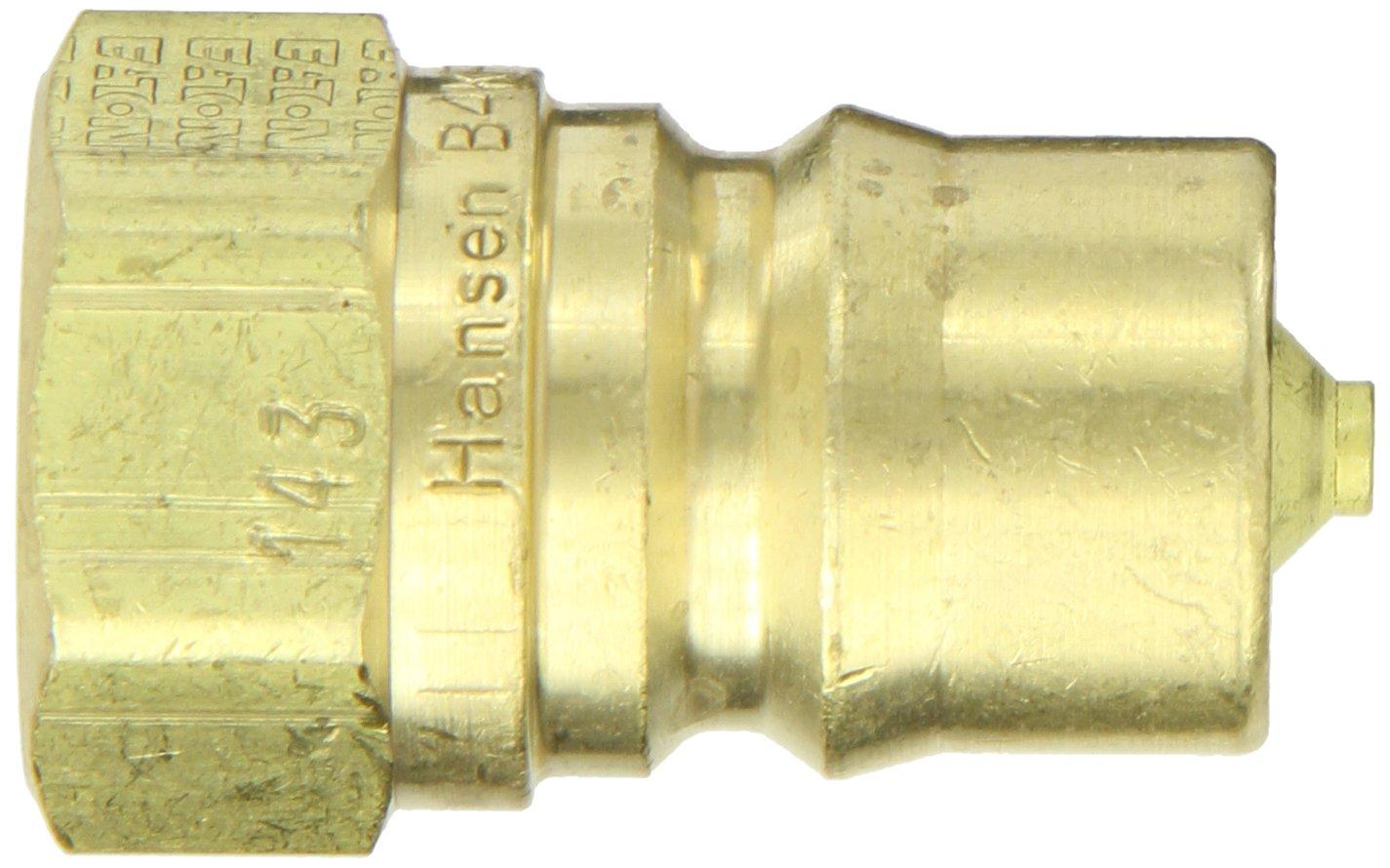 1//2 Body 1//2-14 NPTF Female Fluorocarbon Seal 1//2-14 NPTF Female 1//2 Body Eaton Hansen B4KP26143 Brass ISO-B Interchange Hydraulic Fitting Plug with Valve