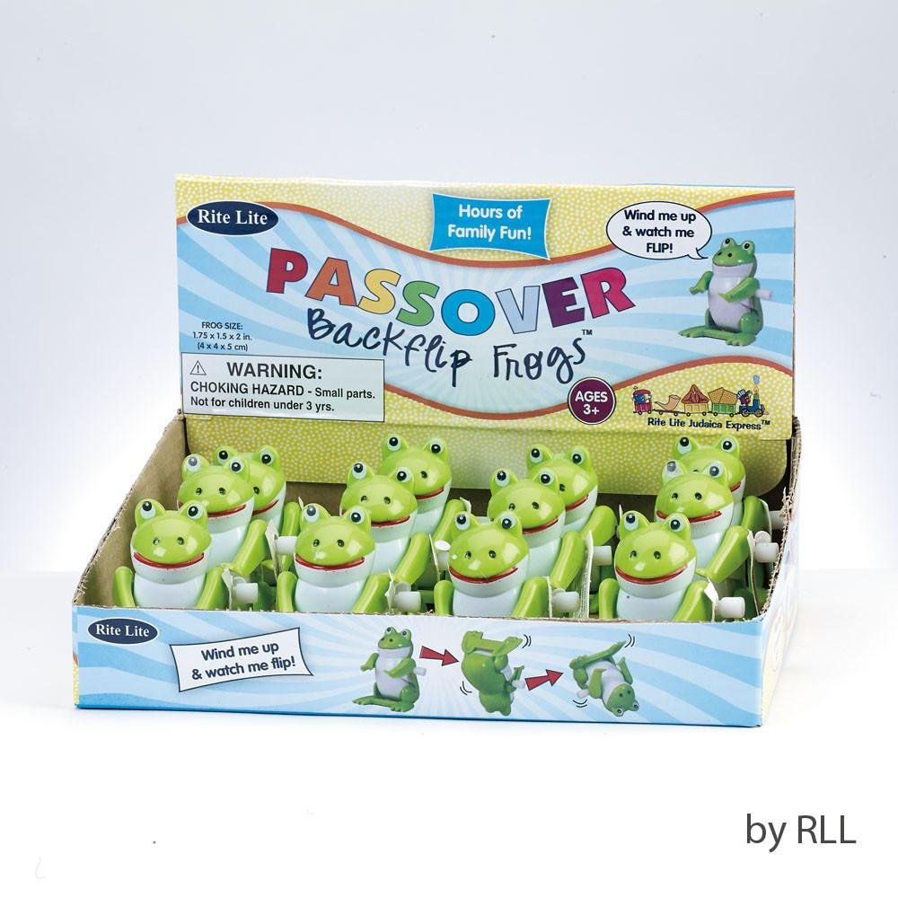 Rite Lite TYPP-FROG-11 Passover Backflip Frog#44; 12-Counter Display - Pack Of 12