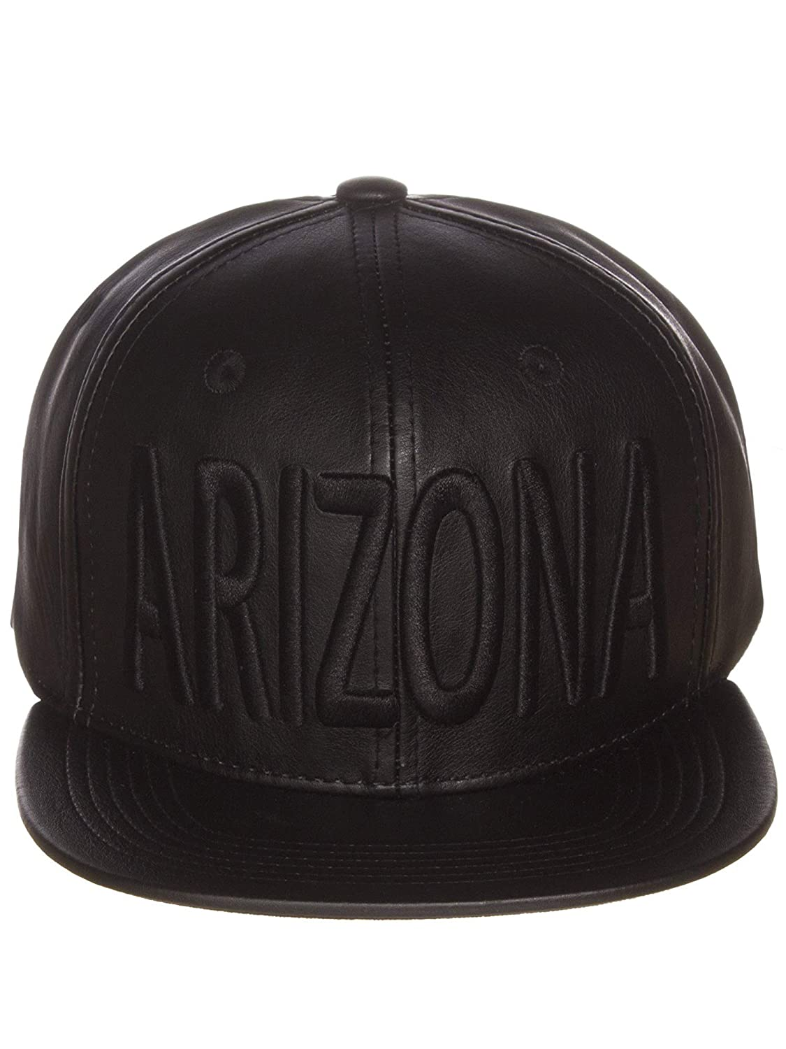 e29a7aeb5520 American cities faux leather arizona block embroidered letters flat snapback  cap hat clothing jpg 1125x1500 Leather
