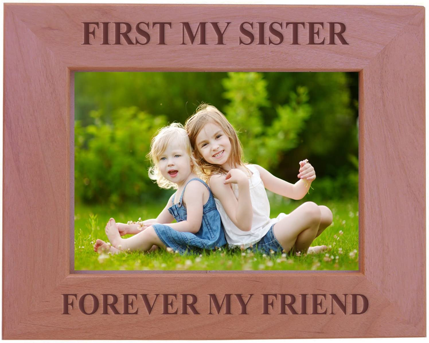Personalized Birthday Gift For Sister Sister Photo Frame Custom Picture Frame {First My Sister Forever My Friend} Sister Gift Photo Frame