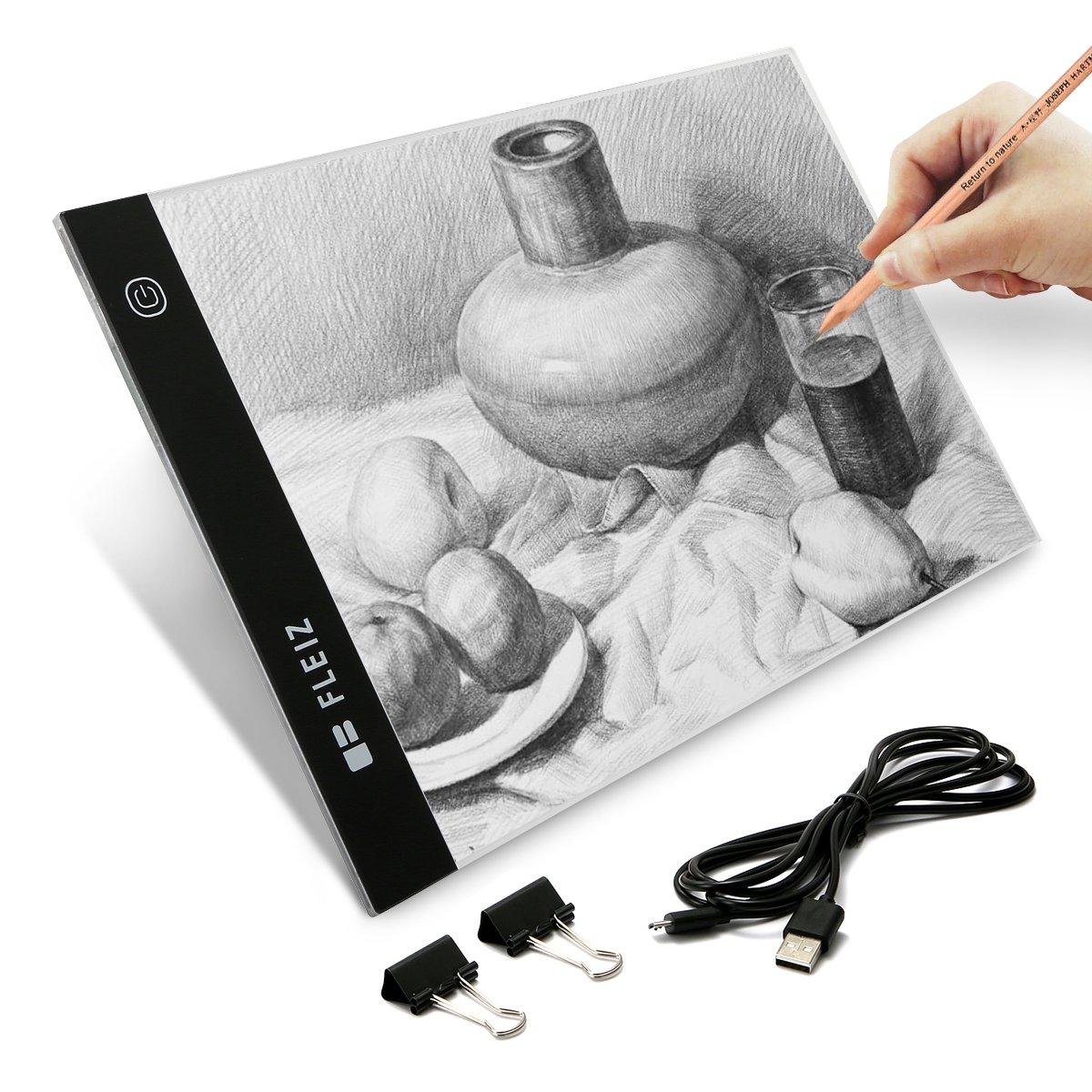 Elfeland Tavoletta Grafica Disegno A4, Tavoletta Luminosa LED, Luminosità regolabile, Disegno Di Protezione Occhi Idee regalo [Classe di efficienza energetica A+]