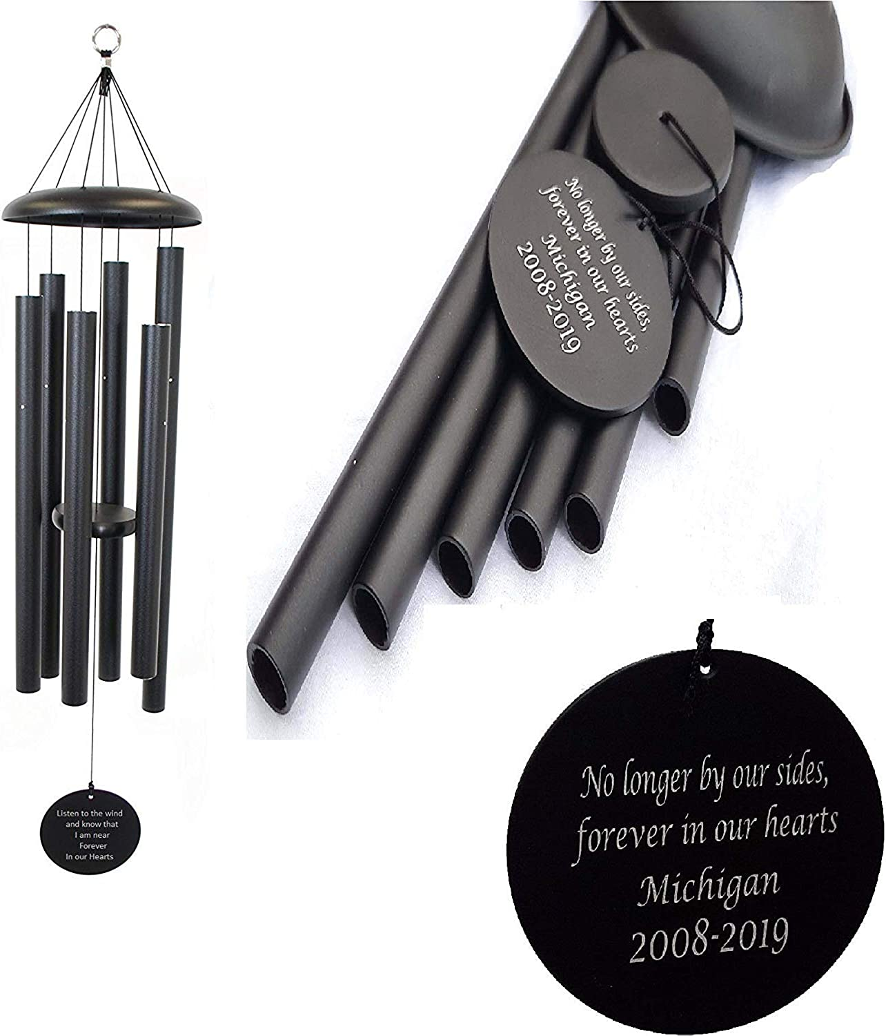 Memorial Wind Chimes Personalized Outdoor Sympathy Wind Chimes Gift Keepsake for Deceased Loved Aluminum Tubes