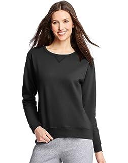 Hanes Women s V-Notch Pullover Fleece Sweatshirt at Amazon Women s ... d40207e625