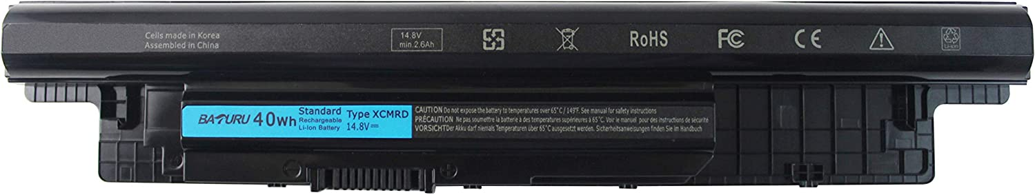BATURU XCMRD Laptop Battery for Dell Inspiron 15-3521 15-3531 15-3537 15-3542 15-3543 15r-5521 15r-5537 17-3721 17-3737 17r-5737 17r-5727 14r-5421 14r-3437 Latitude 3440 3540 312-1433 Mr90y