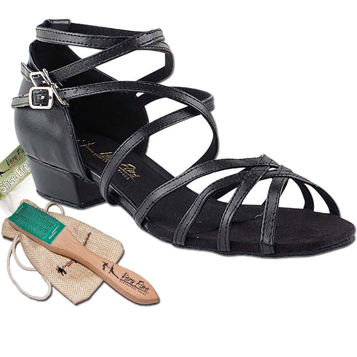 [Very Fine Dance Shoes] レディース B072MBPFGL ブラック(Black Pu) 7 (B,M) US