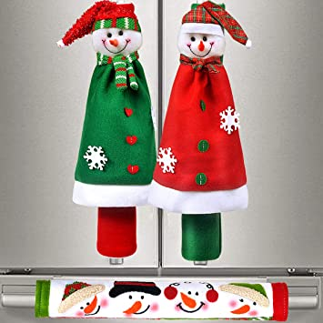 Snowman Refrigerator Handle Covers
