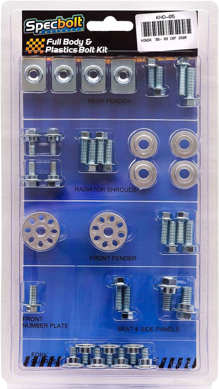 #05 Specbolt Fasteners Brand Full Body /& Plastics Bolt Kit fits Honda CRF250R 2006-2009