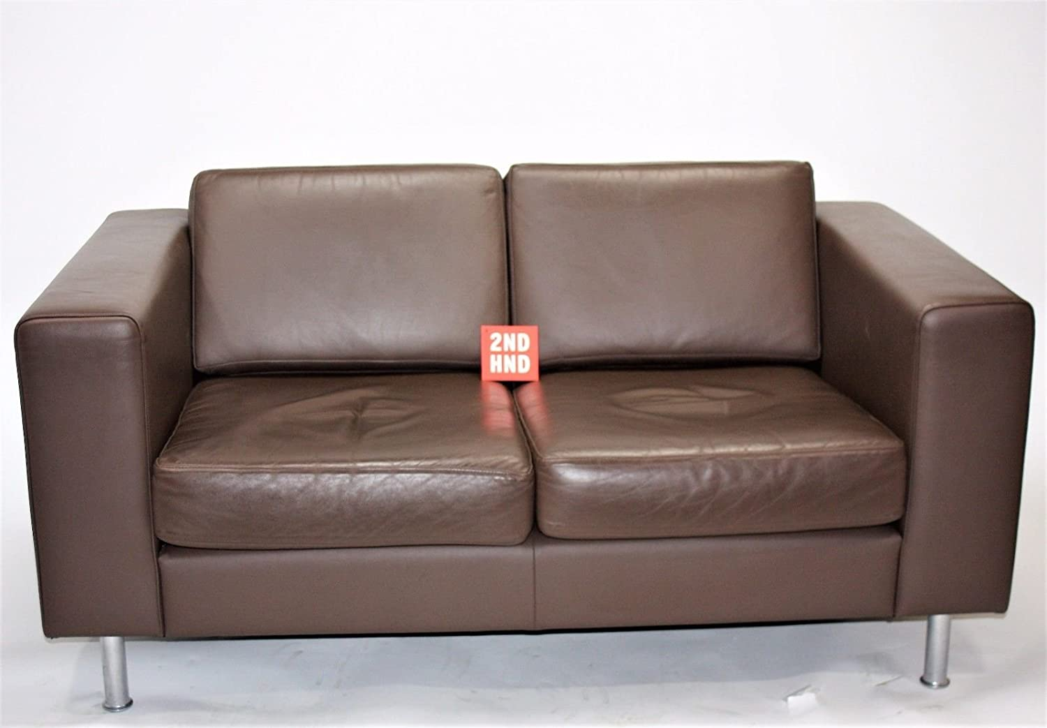 Hitch Mylius Double Seater Brown Leather Sofa: Amazon.es: Hogar
