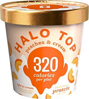 product image for Halo Top, Peaches & Cream Ice Cream, Pint (4 Count)