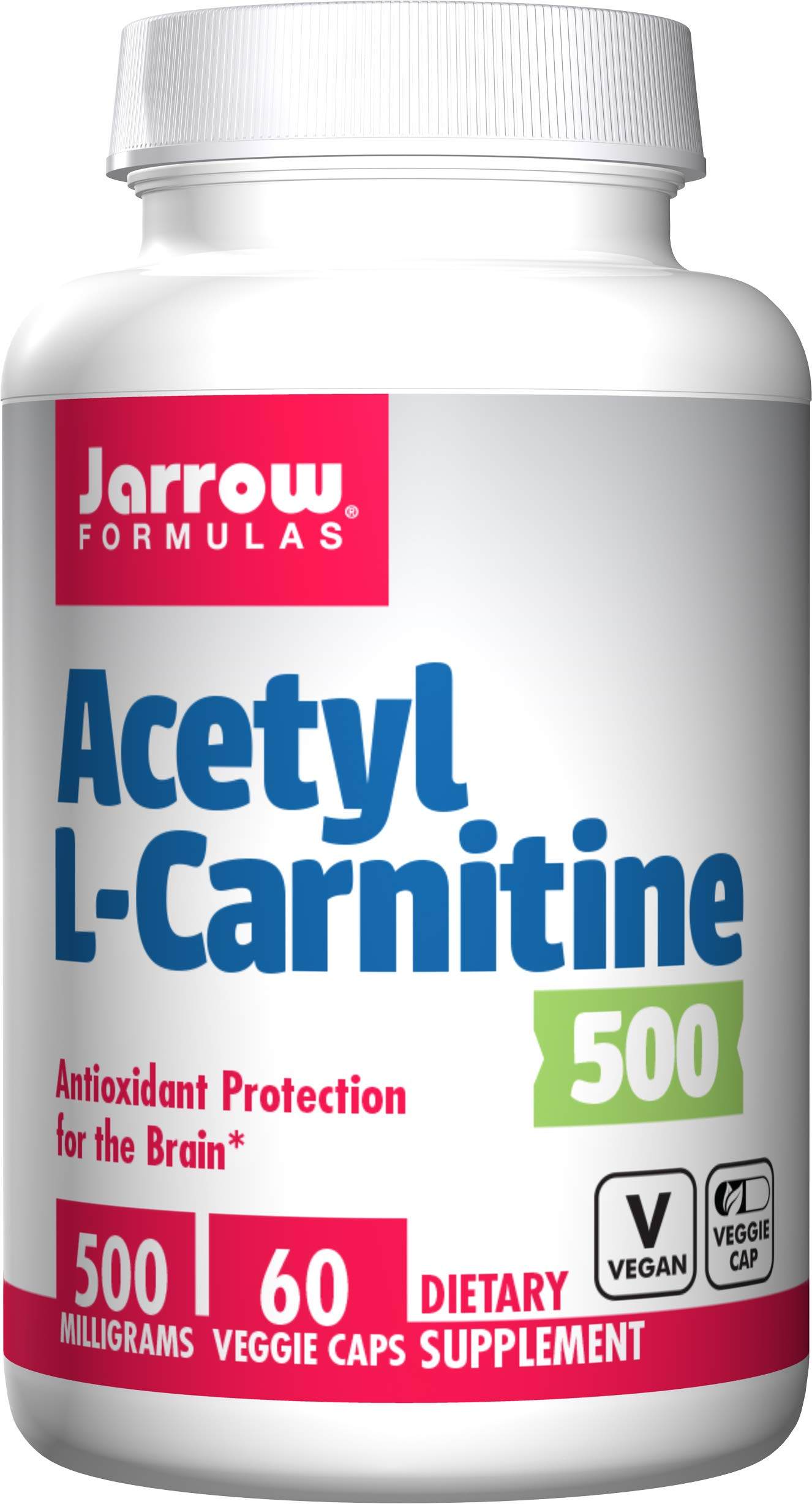 Jarrow Formulas Acetyl L-Carnitine, Antioxidant Protection for The Brain, 500 mg, 60 Capsules by Jarrow Formulas