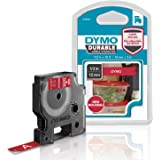 DYMO D1 Durable Labeling Tape for LabelManager Label Makers, White Print on Red Tape, 1/2 W x 10' L, 1 Cartridge (1978366)