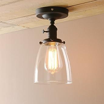 pathson loft vintage ceiling light dia 5 6 flush mount light with
