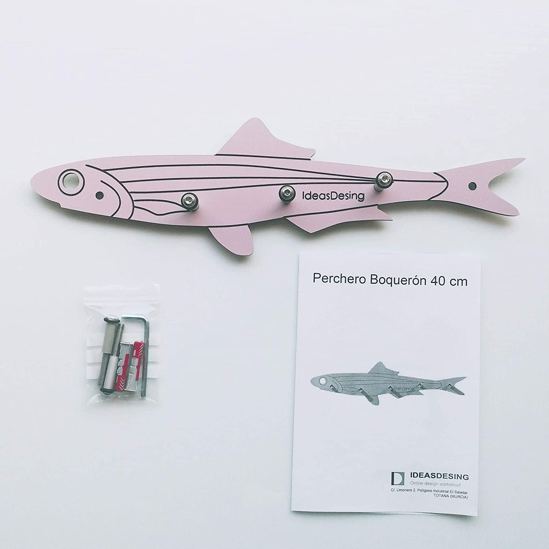 IdeasDesing Perchero de Pared - Modelo Boquerón - 40 cm ...