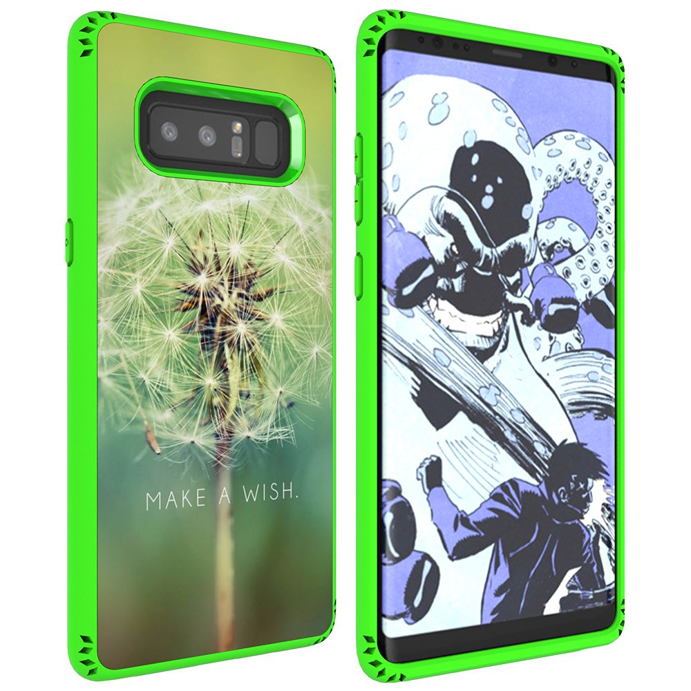 Galaxy Note 8 Case, MagicSky Shockproof Slim Corner Protection with Resilient Shock Absorption Rubber Protective Case Cover for Samsung Galaxy Note8 (2017) 6.3 Inch - Dandelion